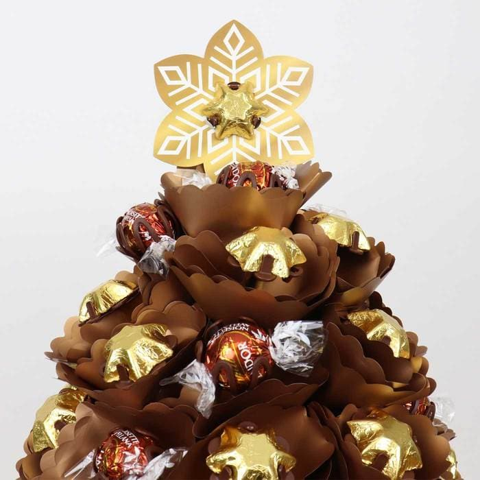 Medium Golden Choc Christmas Tree