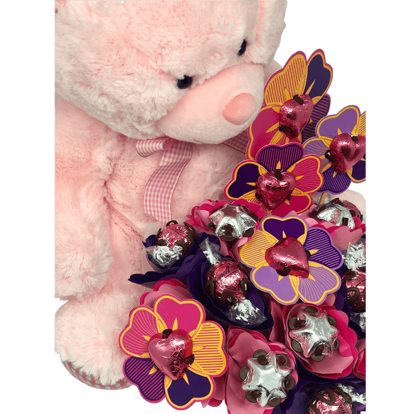 Pink Cuddles and Chocolate Bouquet