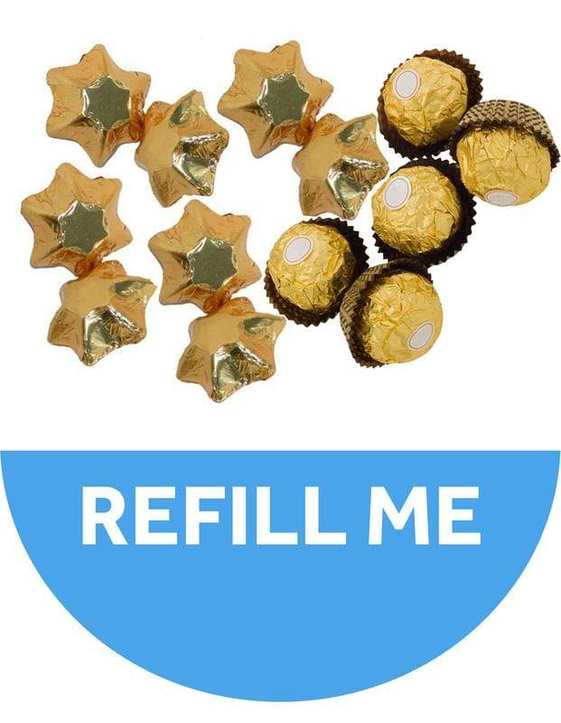 Golden Christmas Tree Refill - 25 Chocolates