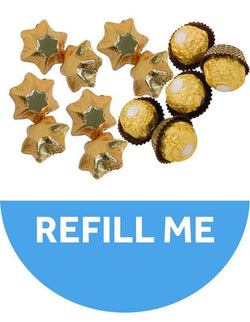 Medium Golden Christmas Tree Refill - 36 Chocolates