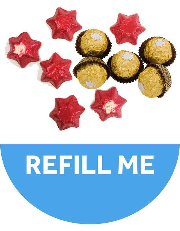 Poinsettia Christmas Tree Refill - 25 Chocolates