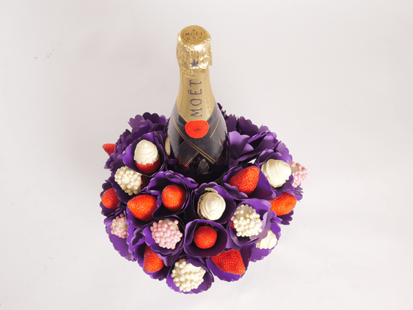 Berry Bubble Moet Bouquet - London only