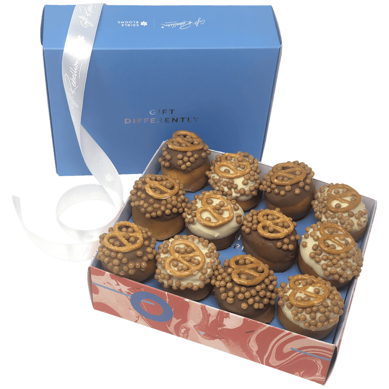 Gourmet Pretzel Donut Gift Box - National GB Delivery Available