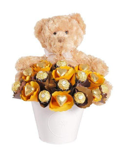 Bear Hugs and Chocolate Bouquet