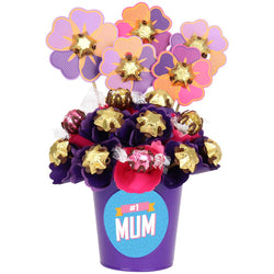 #1 Mum Blush Small Chocolate Bouquet