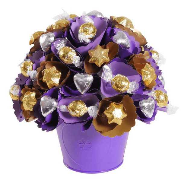 Copper-Violet Chocolate Bouquet