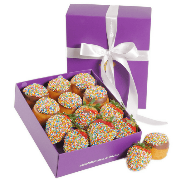 Donut and Strawberry Gift Box