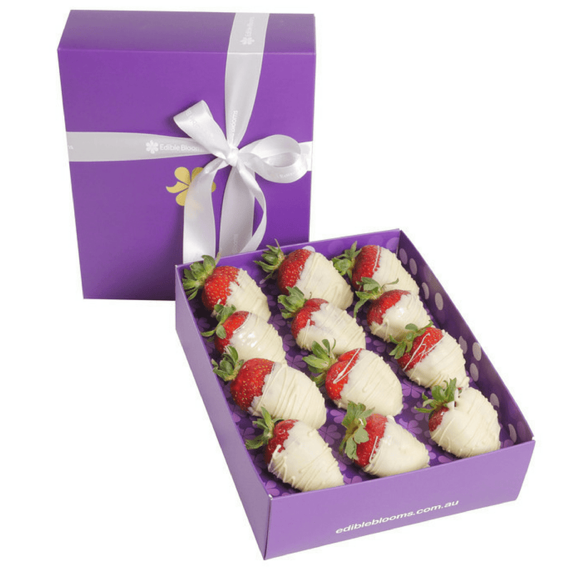 Dozen White Choc-Dipped Strawberries - central London only