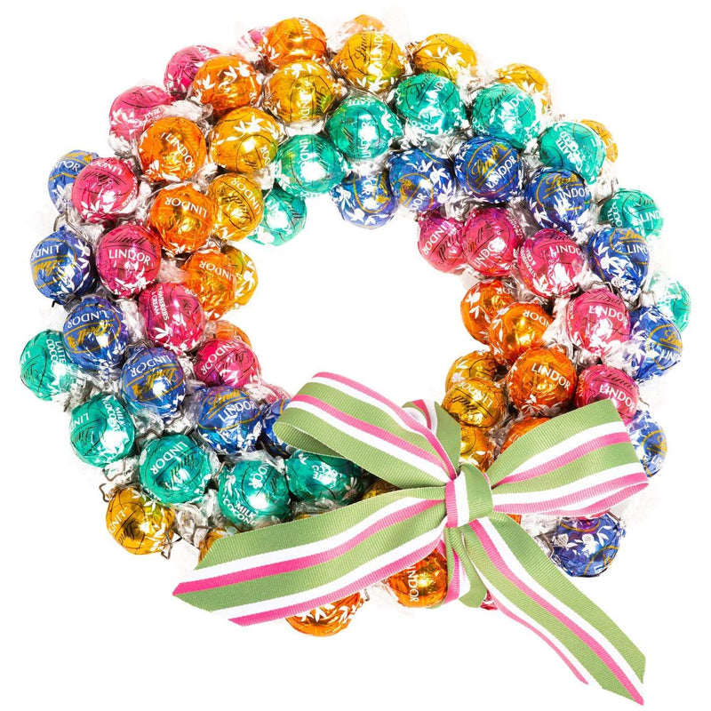 Rainbow Lindt Wreath