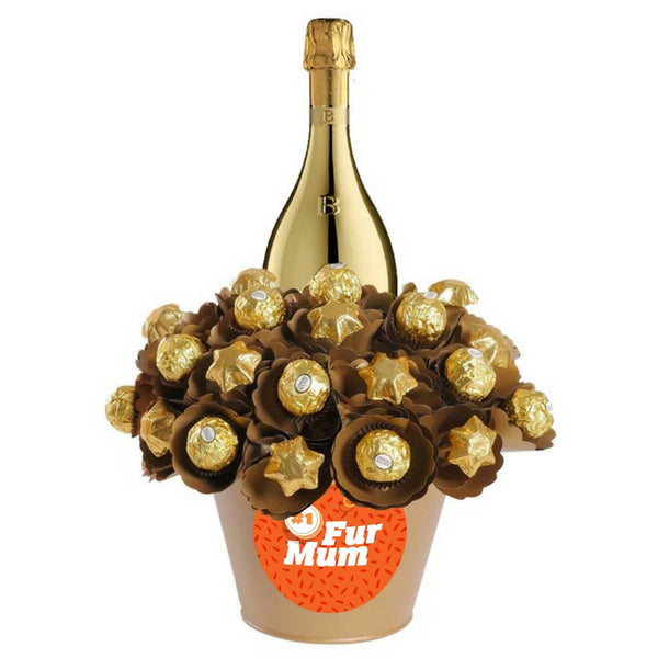 Luxury Prosecco 'Number one Fur Mum' Chocolate Bouquet - FREE OVERNIGHT DELIVERY*