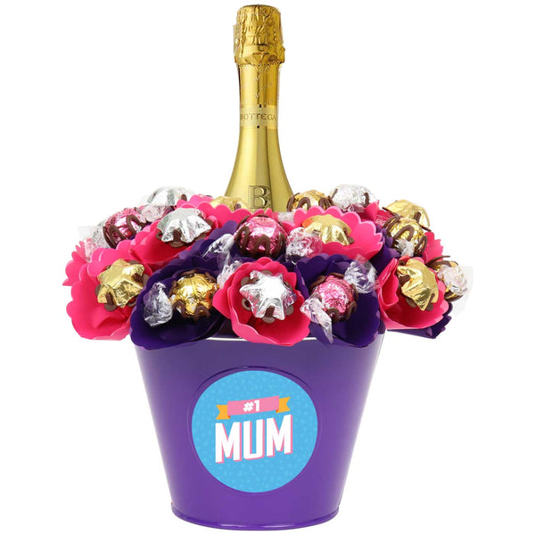 Blush Luxury Prosecco '#1 Mum' Chocolate Bouquet