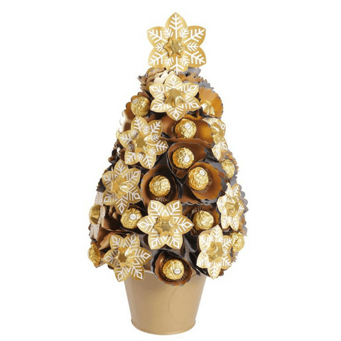 Golden Snowflake Christmas Tree Large