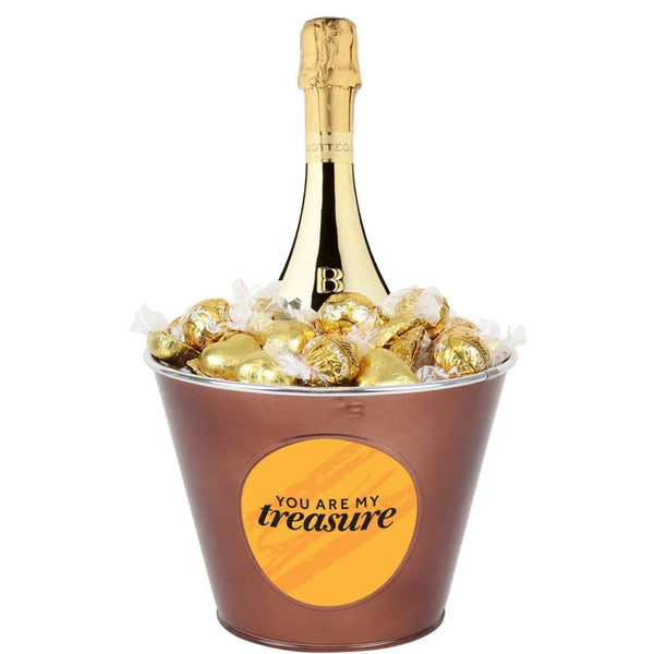 Treasure Prosecco and Chocolate Mega Bucket : 60 chocolates