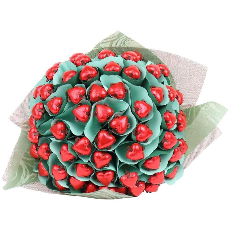 Six Dozen Red Hearts Chocolate Bouquet