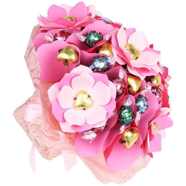 Excellence Pink Chocolate Roses Posy