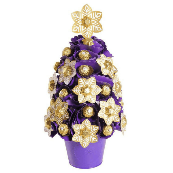 Large Purple Snowflake Christmas Tree
