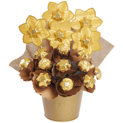 Golden Small Chocolate Bouquet