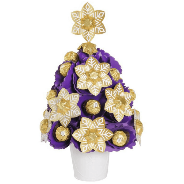 Purple Snowflake Christmas Tree