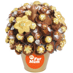 Golden Luxury  'Number One Fur Mum' Chocolate Bouquet