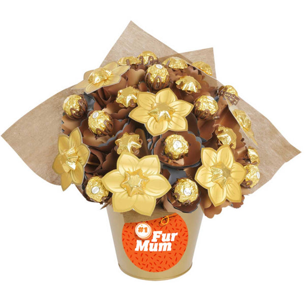 Golden Medium 'Number One Fur Baby' Chocolate Bouquet