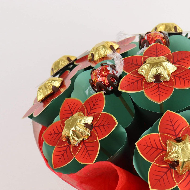 Red Poinsettia Flower Bouquet Grand