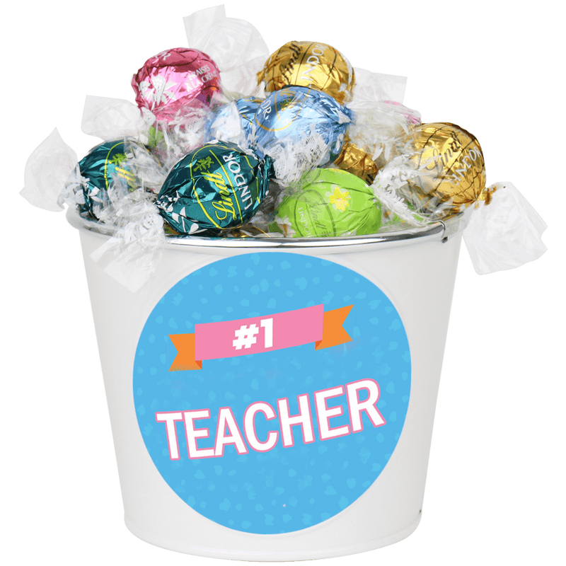 #1 Teacher Pastel Choc Bucket