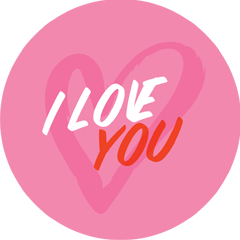 I Love You sticker