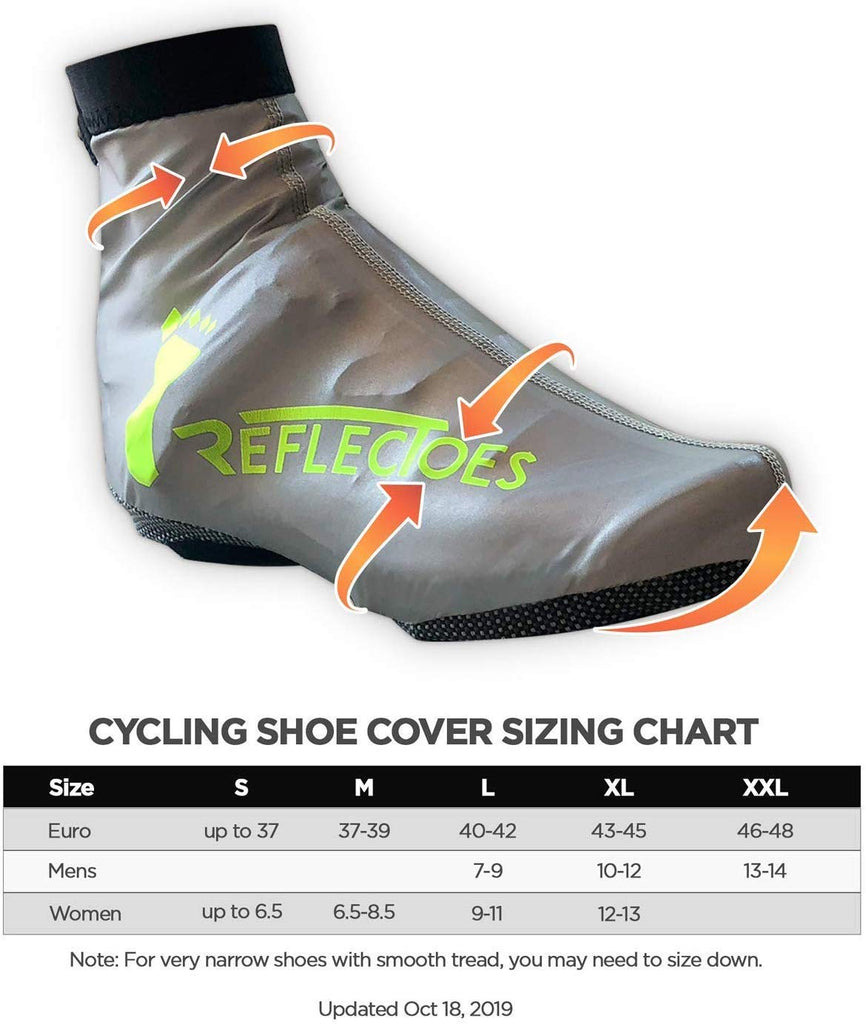 ReflecToes Full Reflective Winter Bike Shoe Covers for Men & Women