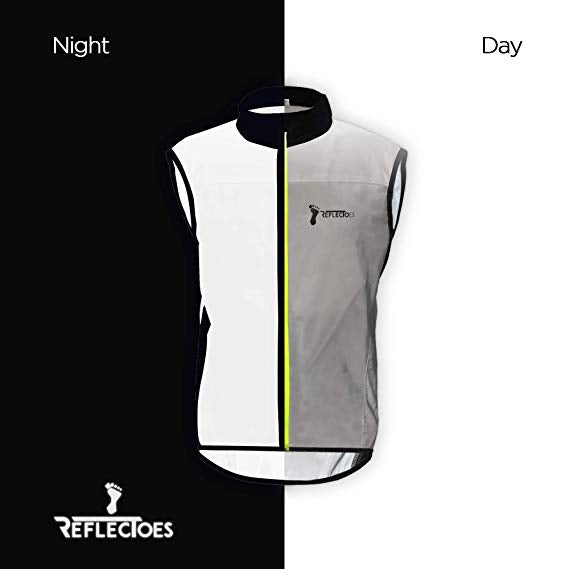 ReflecToes Reflective Windbreaker Vest for Running and Cycling