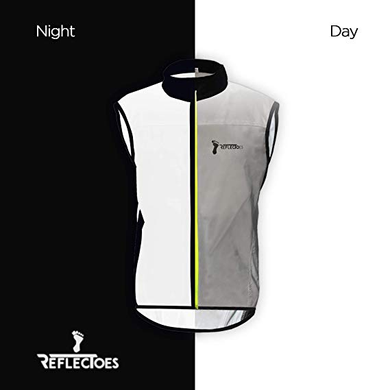 Reflective Windbreaker Vest for Running and Cycling