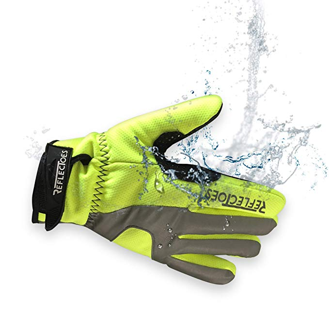 Reflective Fluorescent Cycling Gloves