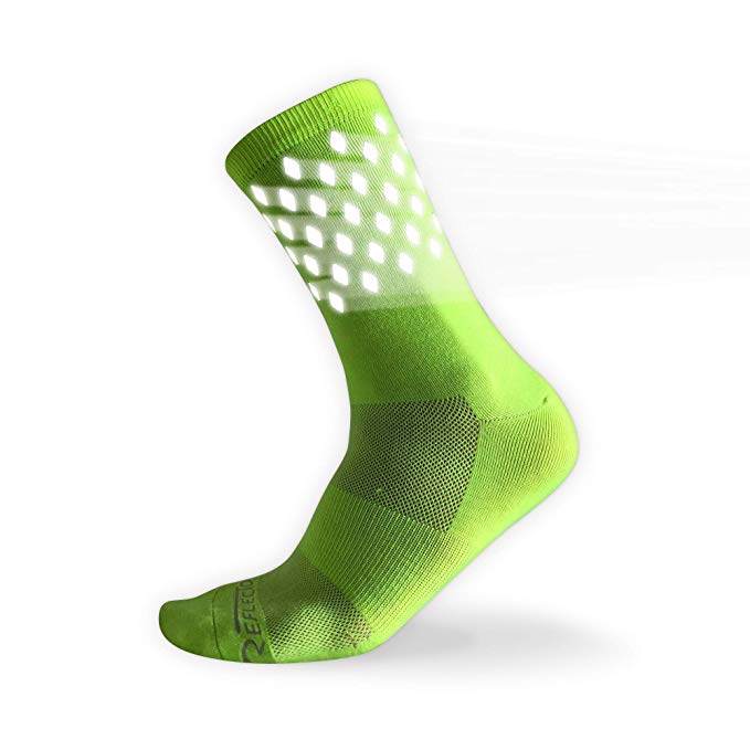 Highly Reflective Night Safety Socks - 1 Pair