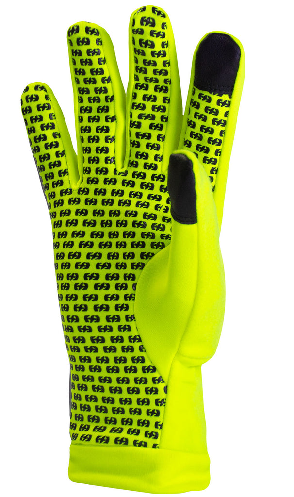 Reflective Running Gloves Lightweight Hi Vis Winter Running Gear Cold Weather Jogging at Night