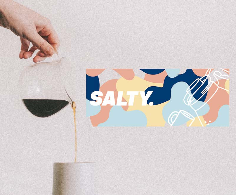Salty Social Club coffee drink bottle design