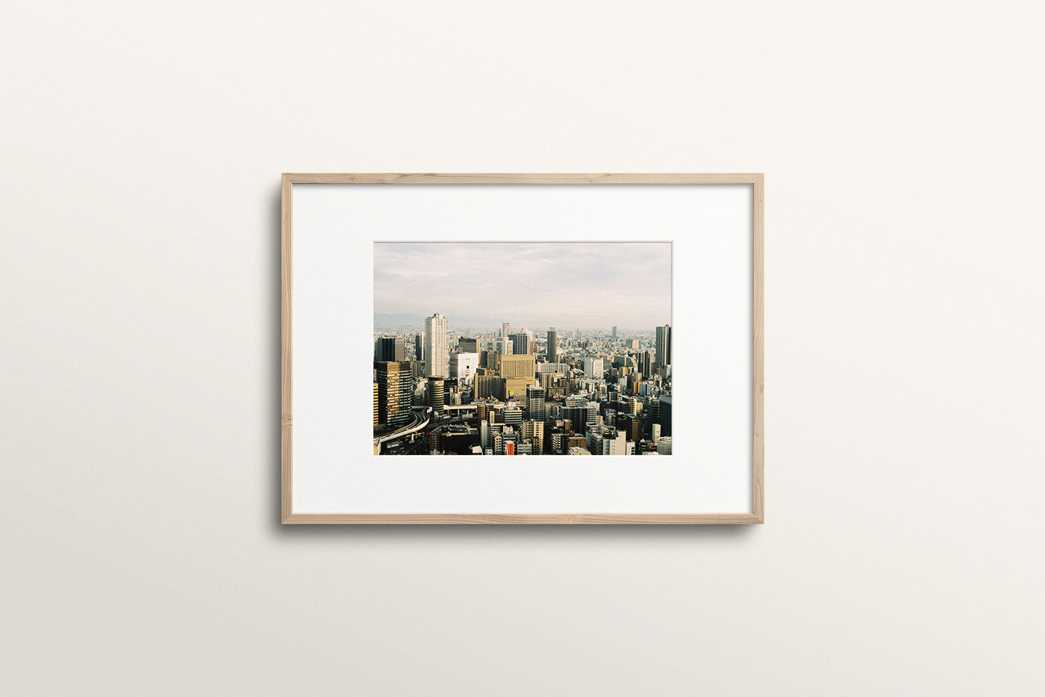 Afternoon skyline in Osaka 35mm print
