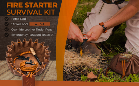 Texas Bushcraft Fire Starter Survival Kit