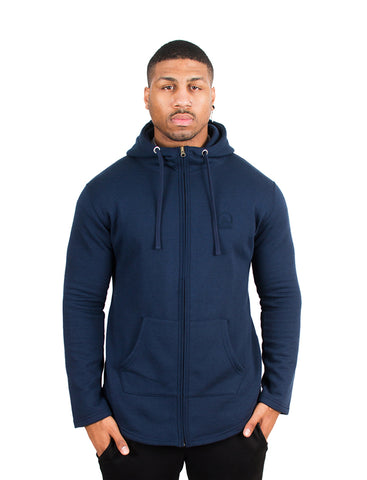 Aubrey x Navy - Hooded Jacket