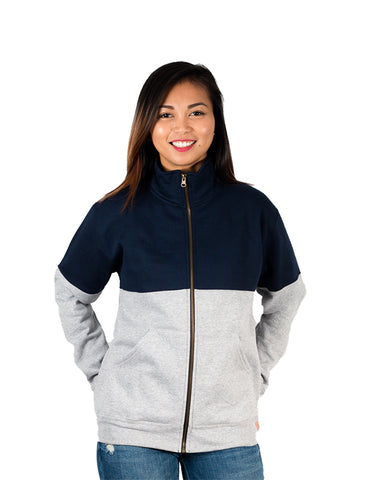 Bailey x Grey+Navy - Full-Zip Jacket