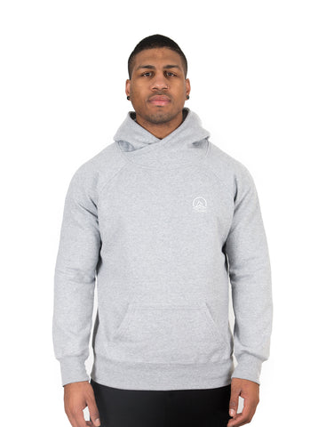 Harrison x Light Grey - Wrap-Neck Hoodie