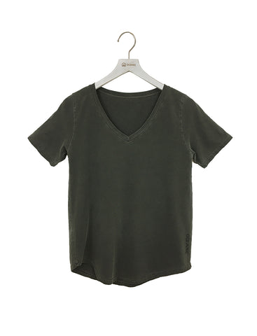 Garment Dye - Women's V-neck Scoop Tee