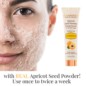 Seamantika Apricot Seed Powder Facial Scrub - Apricot Seed (all skin types)