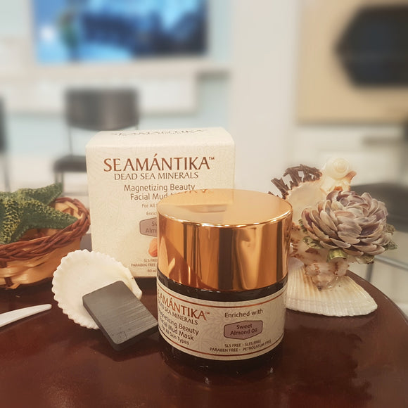 Seamantika Magnetizing Beauty Facial Mud Mask - Sweet Almond Oil