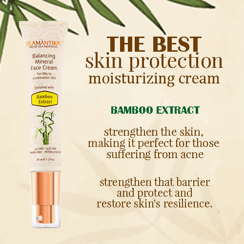 Seamantika Balancing Mineral Face Cream - Bamboo Extract - For oily to combination skin