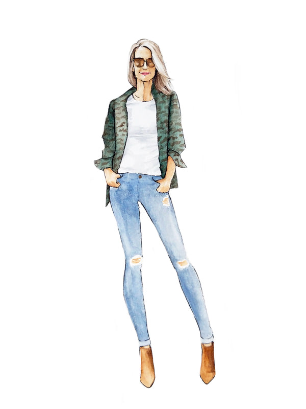 Blogger fashion illustration