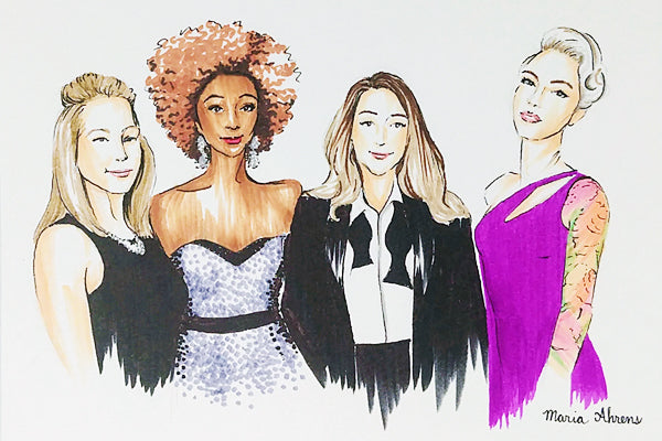 Live fashion illustrations