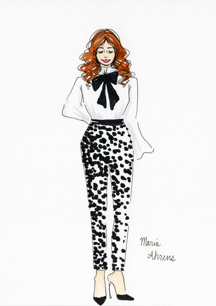 Live fashion illustration 09 by Maria Ahrens