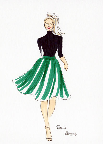 Live fashion illustration 11 by Maria Ahrens