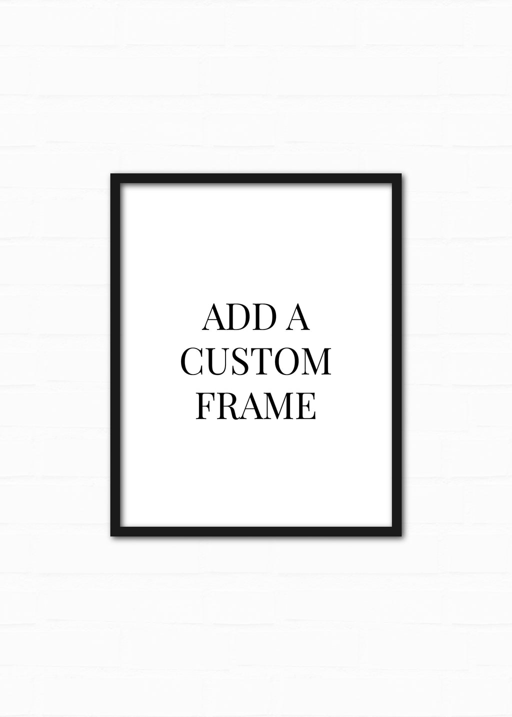 Custom Framing Add-on for Art Print or Painting