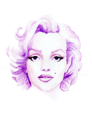 Marilyn Monroe Fashion Illustration Watercolor Art Print