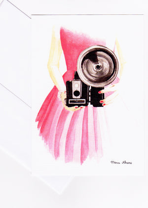 Vintage Camera Mini Fashion Illustration Art Print styled by Maria Ahrens